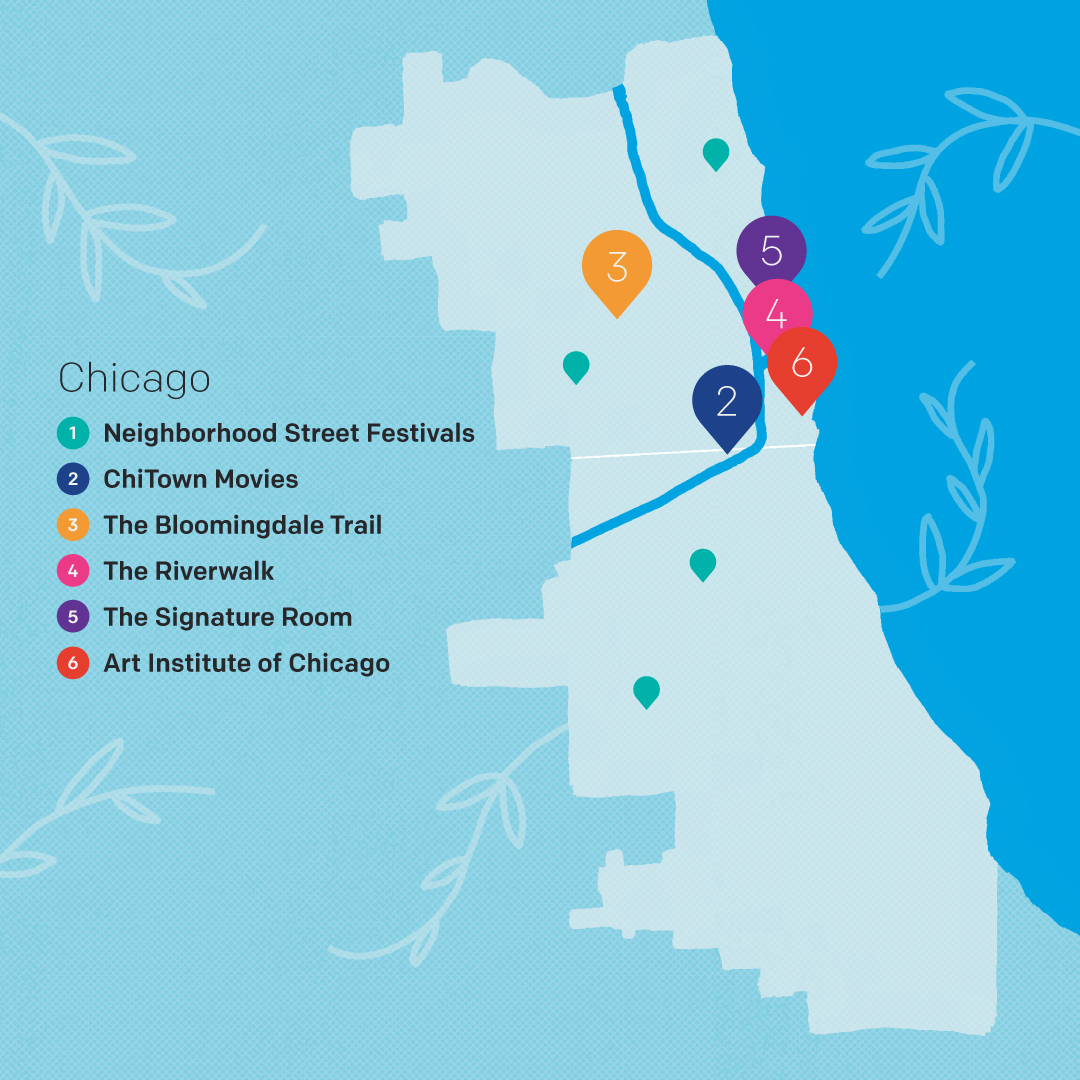 Chicago map of activities by Jaime Morelli
