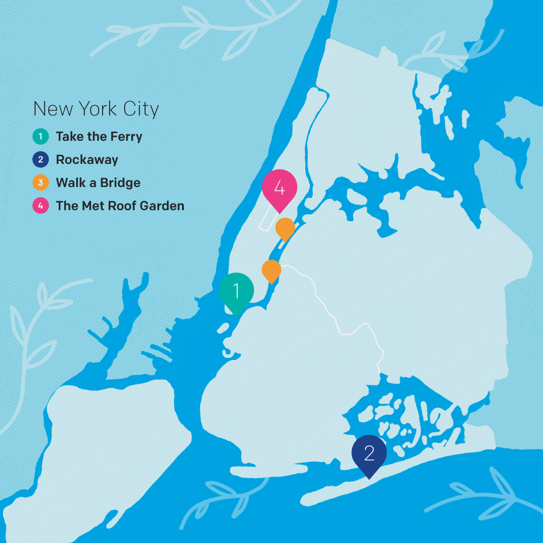 New York map of activities by Steven O'Brien